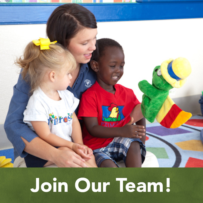 We're looking for dedicated candidates who are as excited about helping children develop and learn as we as we are.