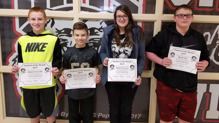 SMS April Students of Month