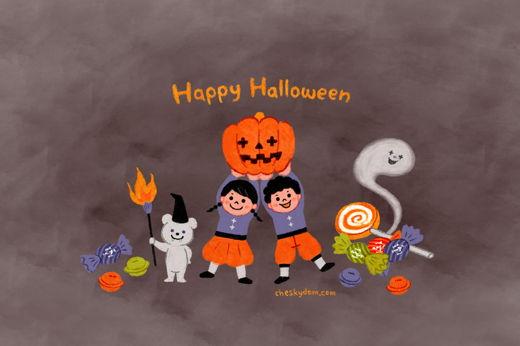 Happy Halloween PC壁紙