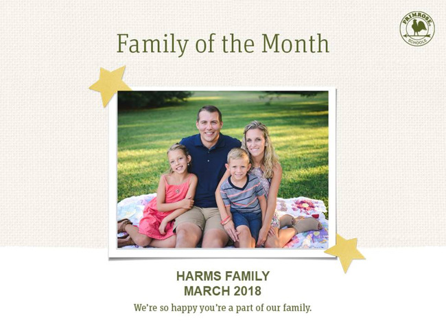 harms family of the month march