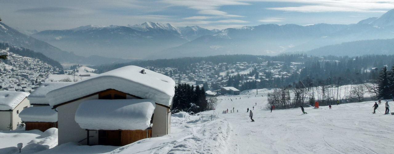 Verschneiter Ausblick über Flims