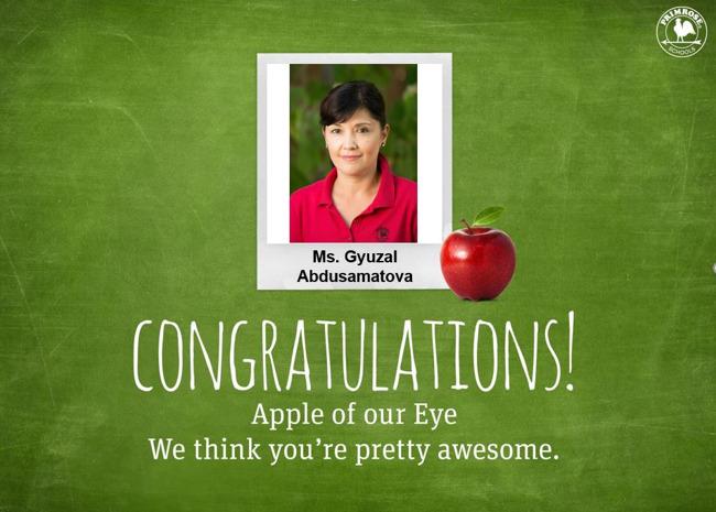 Apple of our Eye - Ms. Gyuzal