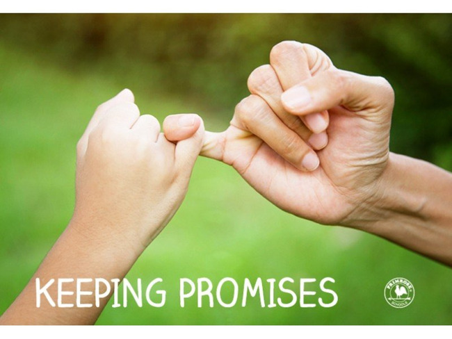 This month we will be learning about Keeping Promises!