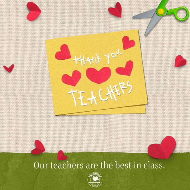 Thank you teachers poster