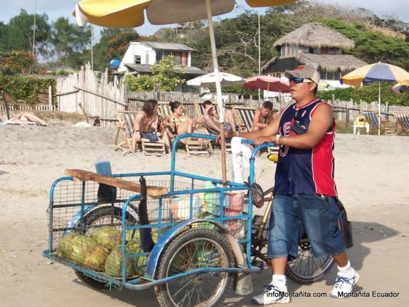 Venta de cocos en la playa