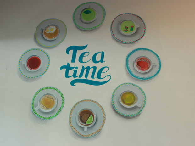 TEA TIME acrylic