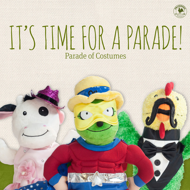 Parade of Costumes Wednesday October 31st at 10:00am and Class Parties at 3:30pm!