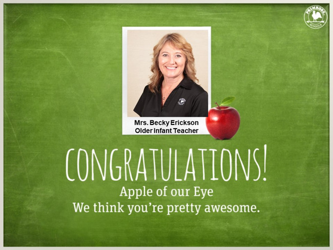 infant teacher black blonde blue eye smile dedication happy professional apple of our eye preston meadow primrose schools