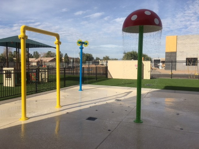 Splash Pad Install is complete