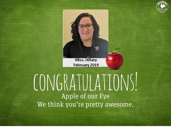 Apple of the Eye for Feb