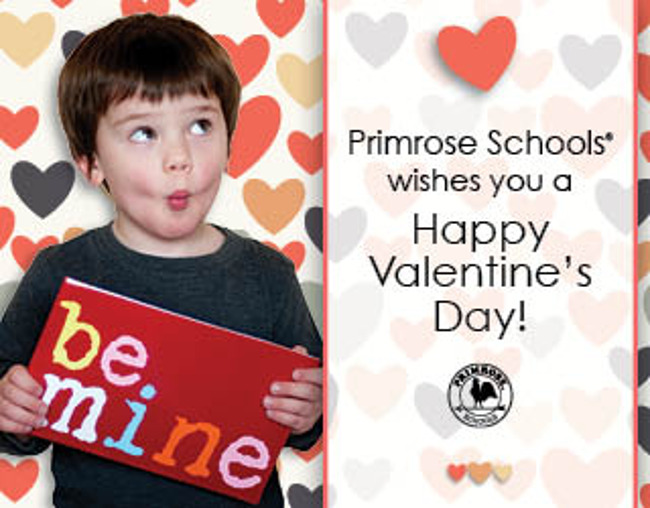 """Happy valentine's day poster featuring a young boy holding a sign that says """"Be mine"""""""