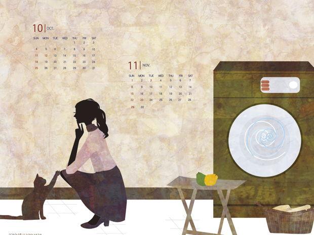 2015年10月−11月壁紙カレンダー