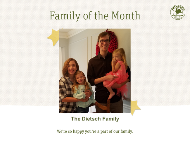 The Dietsch Family - Jan 2019 Family of the Month
