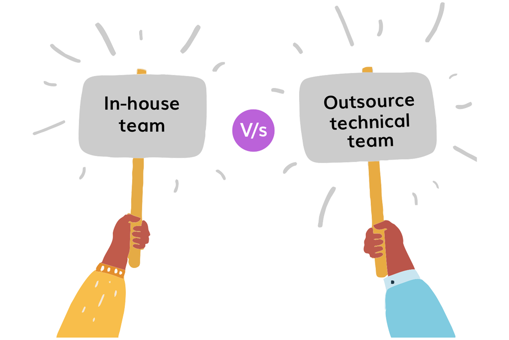 CTO as a service inhouse team vs outsourced team gkmit