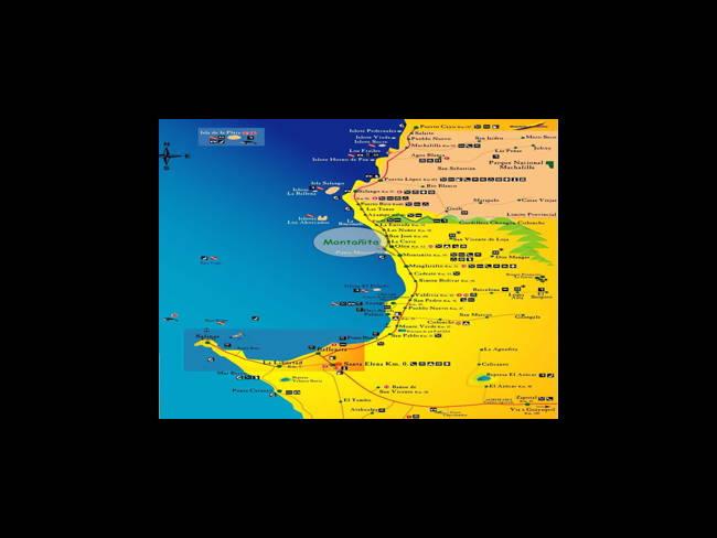 Mapas de Montañita Ecuador-Montañita