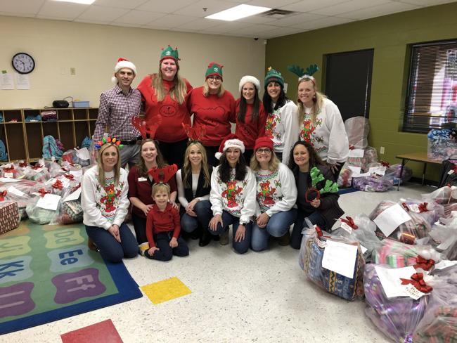 Angel tree donation by Primrose Schools of Nashville to Susan Gray Head Start School