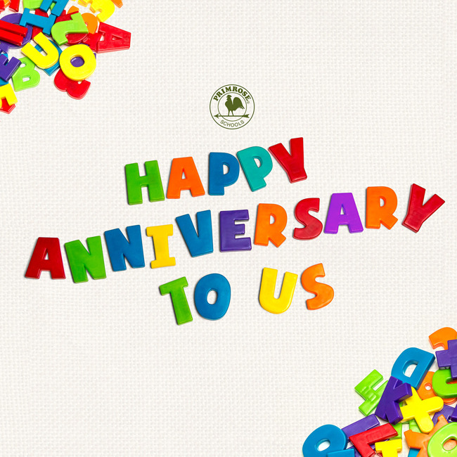 """Happy anniversary to us"" poster"
