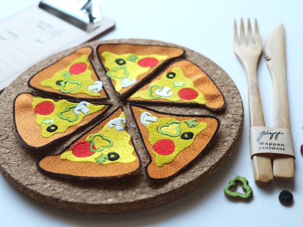 ピザのできあがり〜