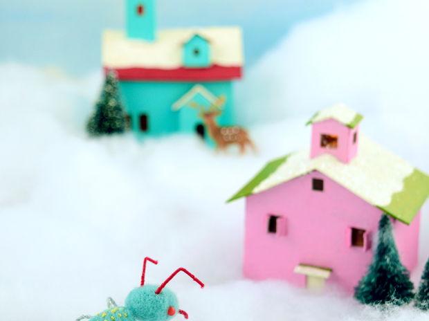 クリスマスカード(ジオラマ)