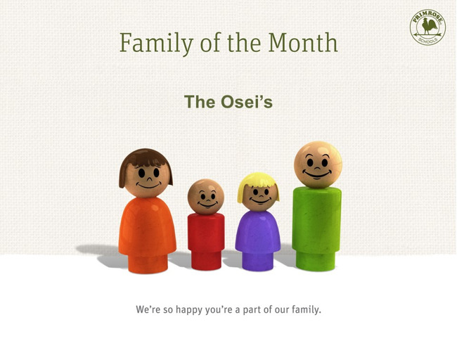 The Osei's, family of the month
