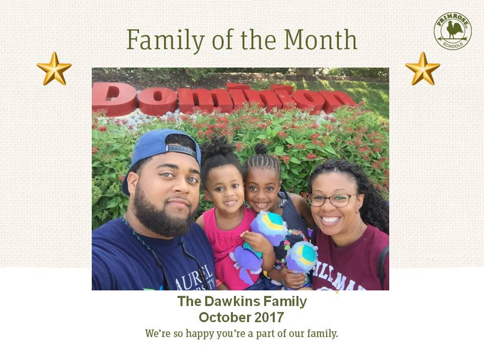 Dawkins family, family of the month for October