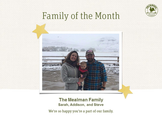 December Family of the Month