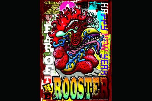 2017 年賀状 PunkRooster 2
