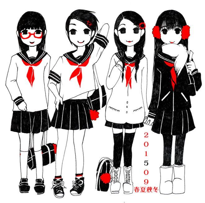 2015*女子学生春夏秋冬