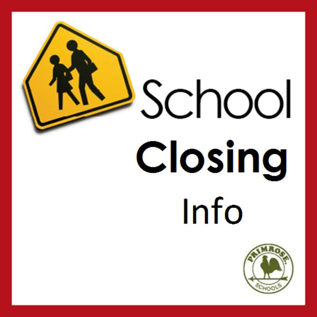 School closing poster