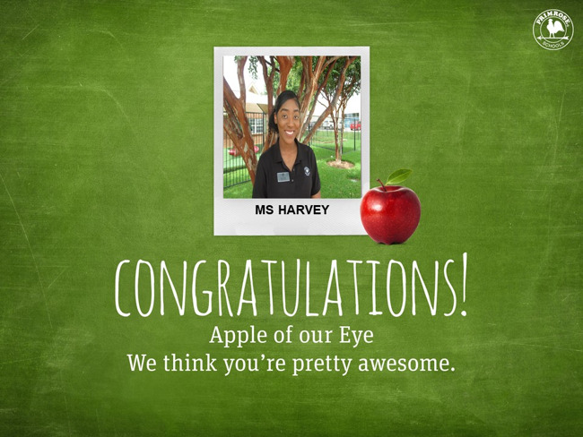 Congratulations on being Our January Apple of Our Eye!