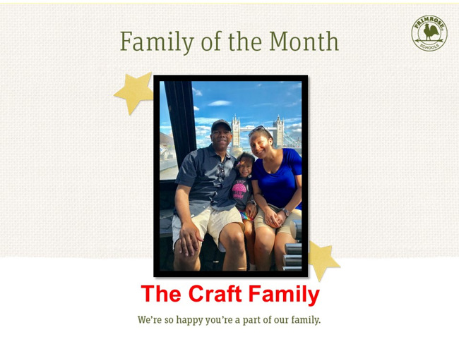 Congratulations Craft Family on being our December Family of the Month!