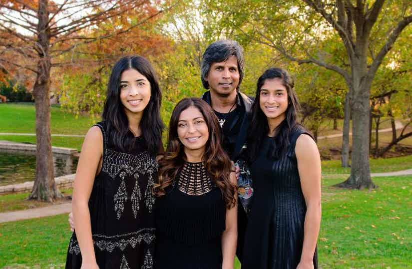 Drs. Noel and Pratiksha Rigley, and their daughters.