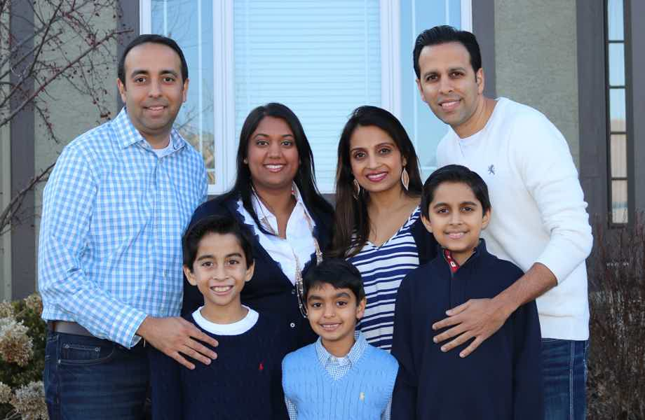Franchise Owners of Primrose School Sunita Sanjanwala and Ami Sanjanwala with their family
