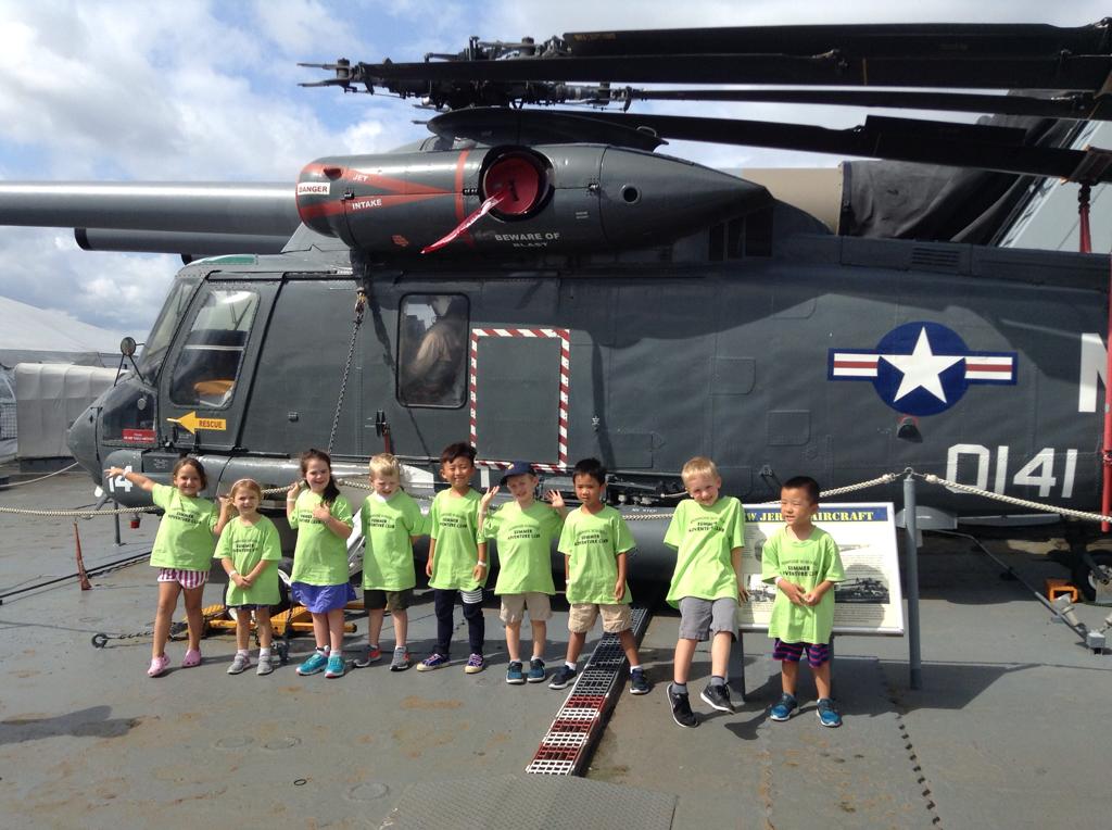 Summer Camp and Pre-kindergarten visit the historical battleship New Jersey.