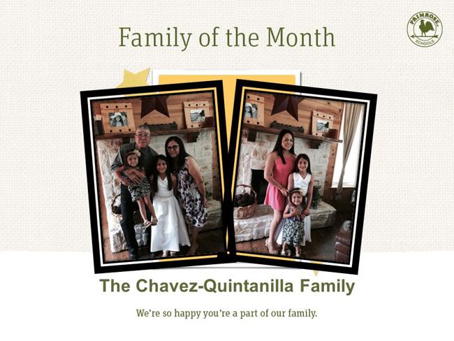 Congratulations on being our October Family of the Month!