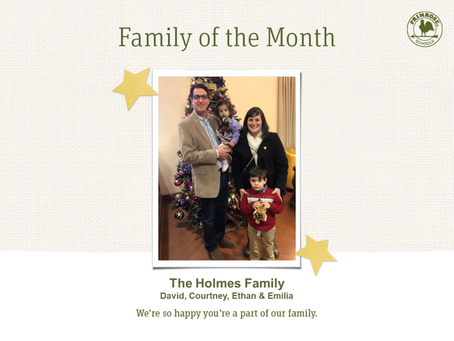The Holmes Family - Family of the Month