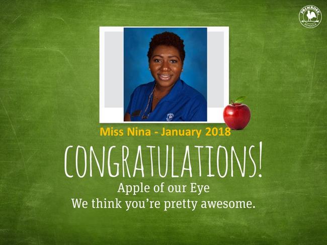 Jan 2018 Apple of the Eye