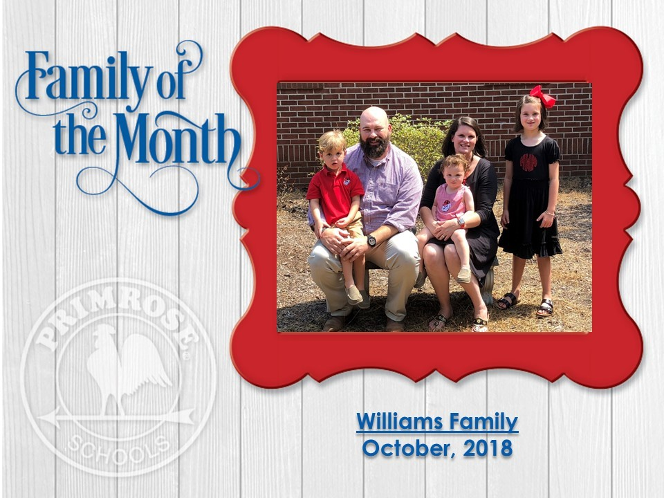 Family of the Month, the Williams Family