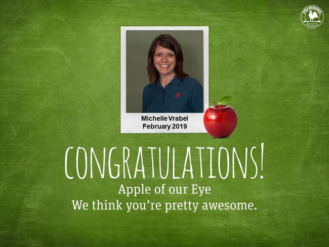 michelle vrabel february apple of our eye