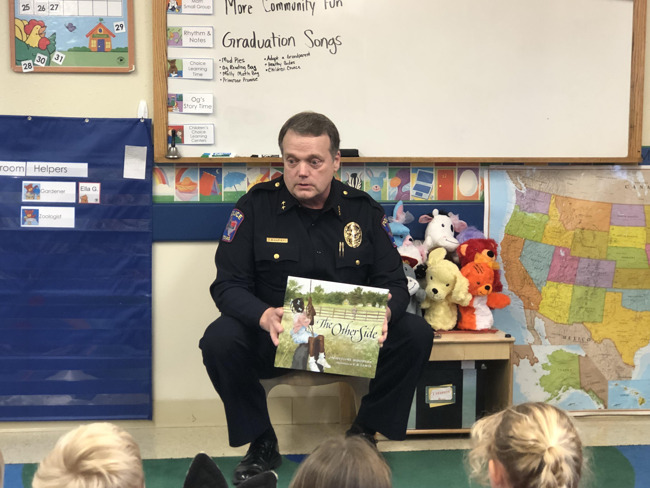 Allen Police Chief Harvey Reading to Students