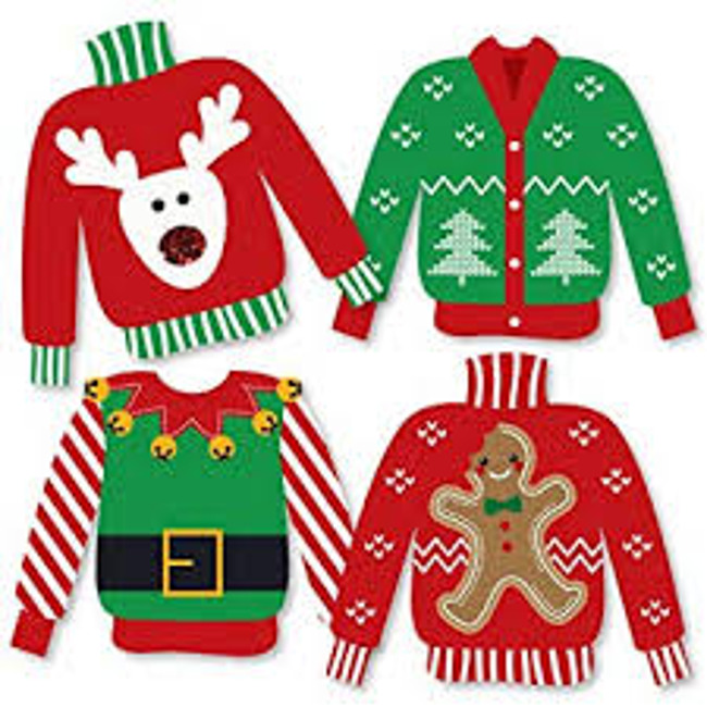 Wear Holiday Colors or a Holiday Sweater for our Holiday Class Parties!