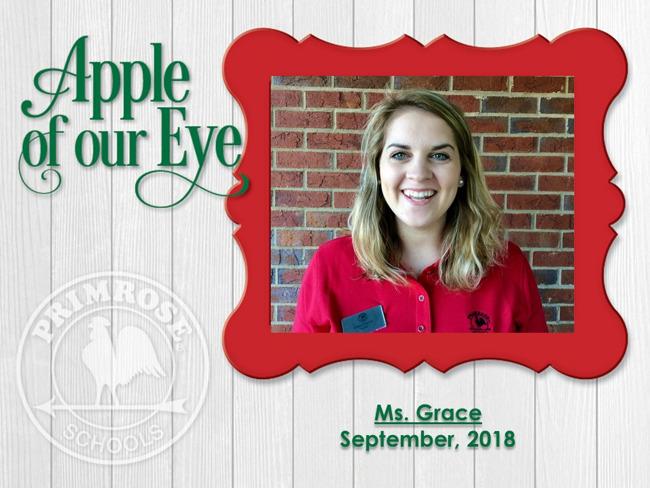 September's Apple of Our Eye, Ms. Grace