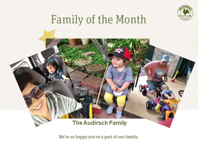 Congratulations Audirsch Family on being our September Family of the Month!