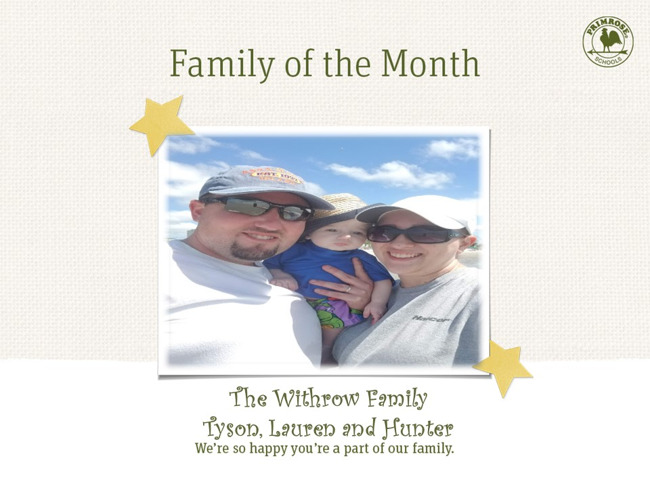 Congratulations Withrow Family on being our February Family of the Month!