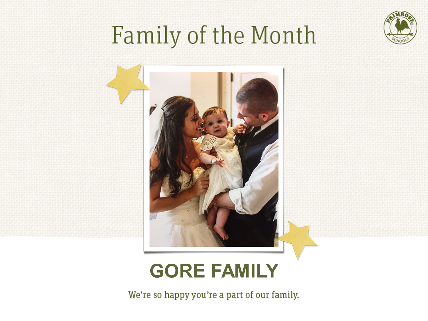 The Gore family, family of the month