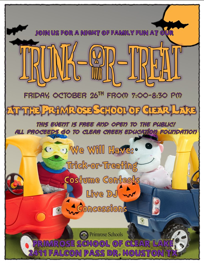 Join us Friday October 26 for Trunk-or-Treat