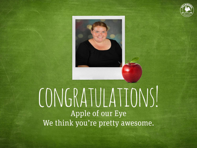 Apple of our eye poster featuring Meredith Holley
