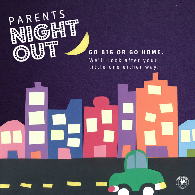 A decorative poster for parent nightout