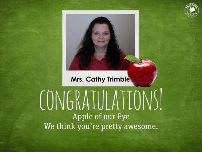 Apple of Our Eye - September~ Ms. Trimble