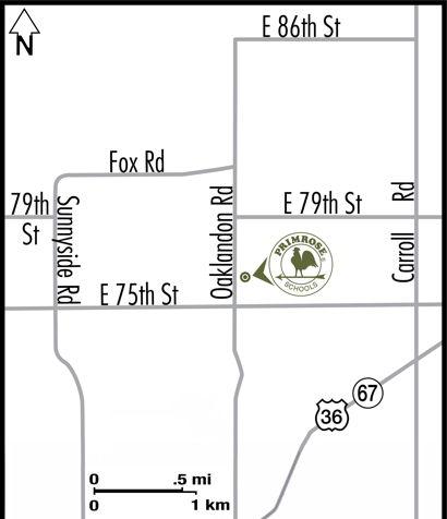 Primrose School of Geist Map Location